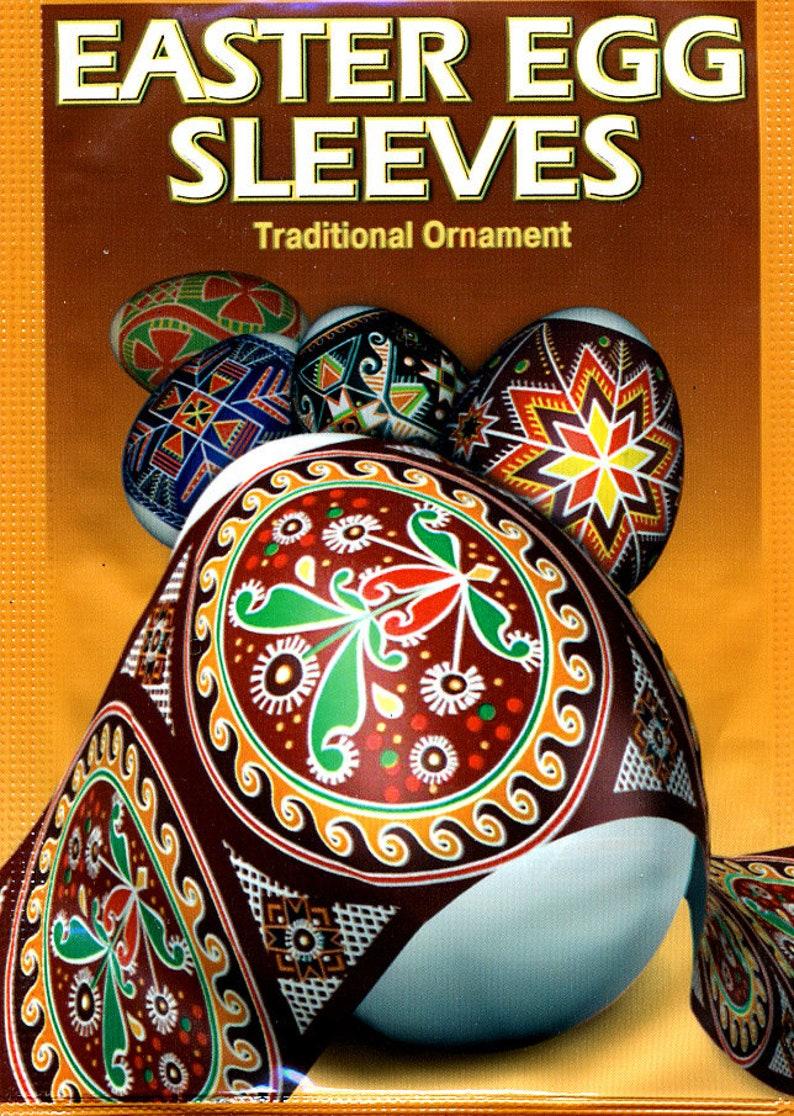 Traditional 31 Easter Egg Sleeves Pysanka Shrink Wraps Easter image 0