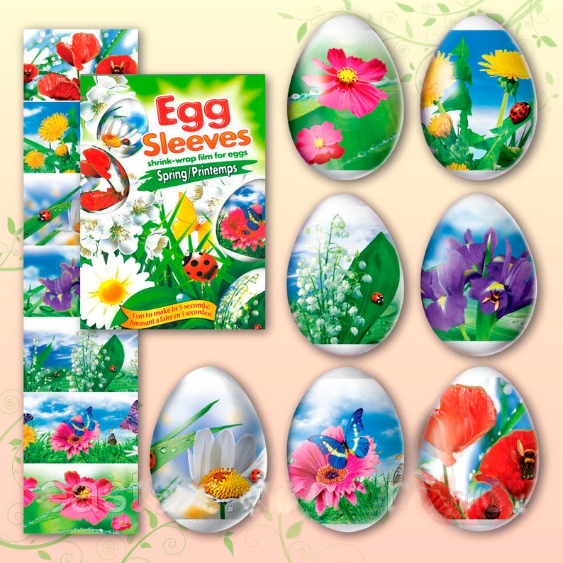 Spring 15 Easter Egg Sleeves Pysanka Shrink Wraps Egg image 0