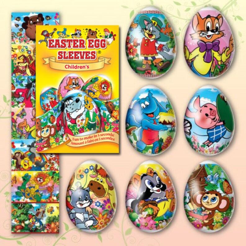 Children's Wolf 25 Easter Egg Sleeves  Pysanka Shrink image 0