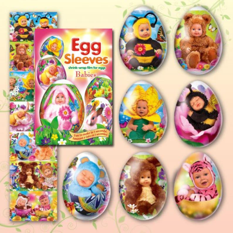 Babies 36 Easter egg sleeves Shrink egg wraps decoration Egg image 0