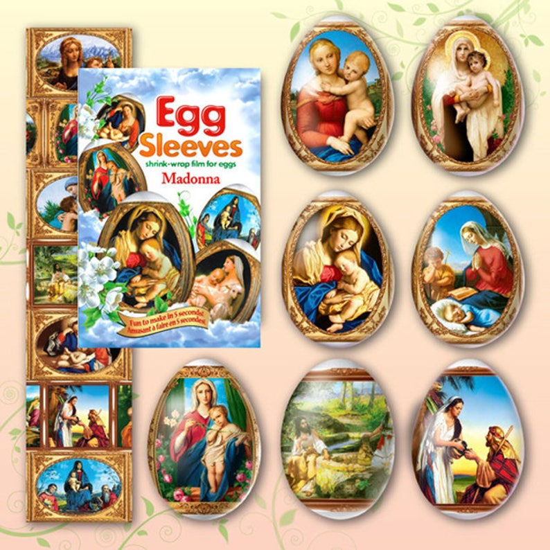 Madonna 24 Easter Egg Sleeves Pysanka Shrink Wraps Egg image 0