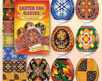 Traditional New #26 Easter Egg Sleeves Pysanka Shrink Wraps Egg decoration Egg Sleeves Sticker Pasha THERMO Easter SLEEVES