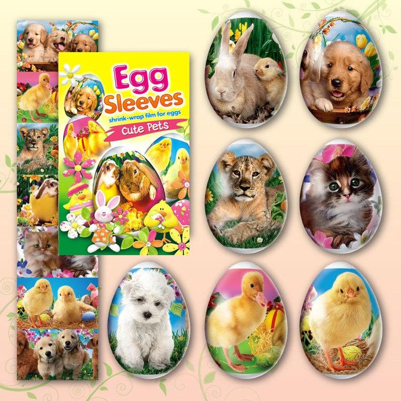 Cute Pets 7 Easter egg sleeves Shrink Egg wraps Egg image 0