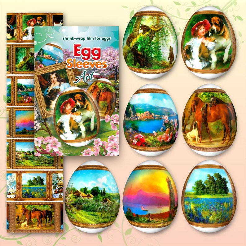 ART 2 Egg Sleeves  Shrink Wraps Egg Easter Sleeves Egg image 0
