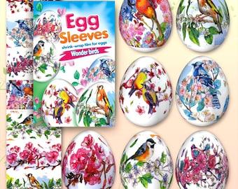 Wonder Bird #46 Easter Egg Sleeves Pysanka Decoration Eggs Shrink Wraps Egg Decoration Egg Sleeves Sticker Pasha THERMO Easter SLEEVES