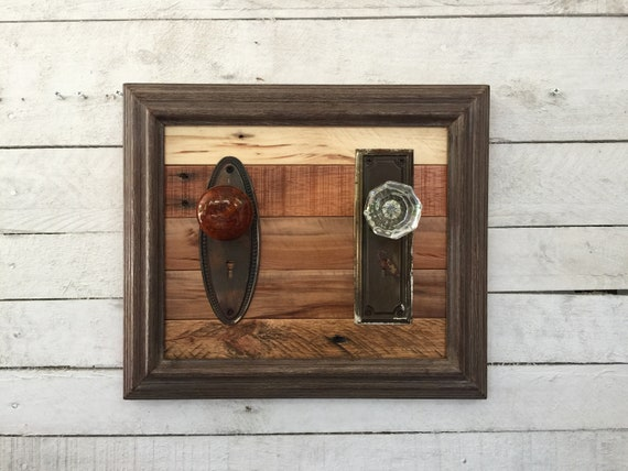 Door Knob Coat Rack Rustic Farmhouse Wall Decor Reclaimed