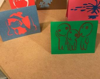Miyazaki Custom silhouette Cards