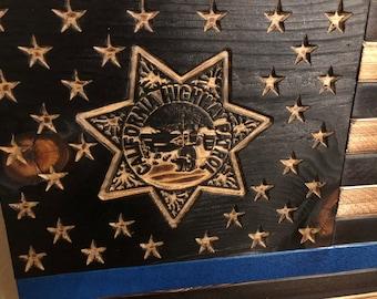 California Highway Patrol, CHP Flag, Blue Line Flag, Police Flag