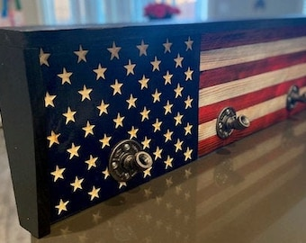 American Flag Gear Rack