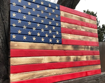 Country Rustic American Flag