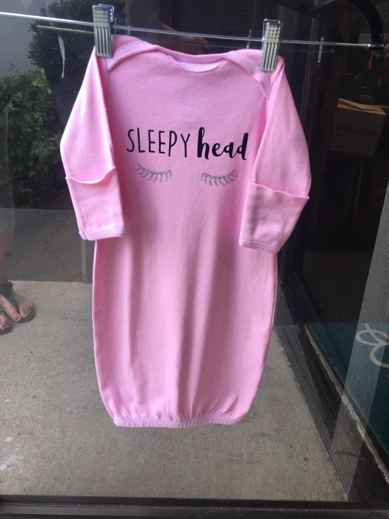 Sleepy Head Newborn Sleeper Onesie