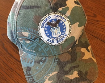 7fa7d146d69 Adjustable Camo Camouflage USAF United States Air Force Baseball Hat Cap  One Size