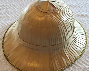b3b6d36710ed3 Hand Made Straw Wicker Safari Adventure Hat! Thatched One Of A Kind