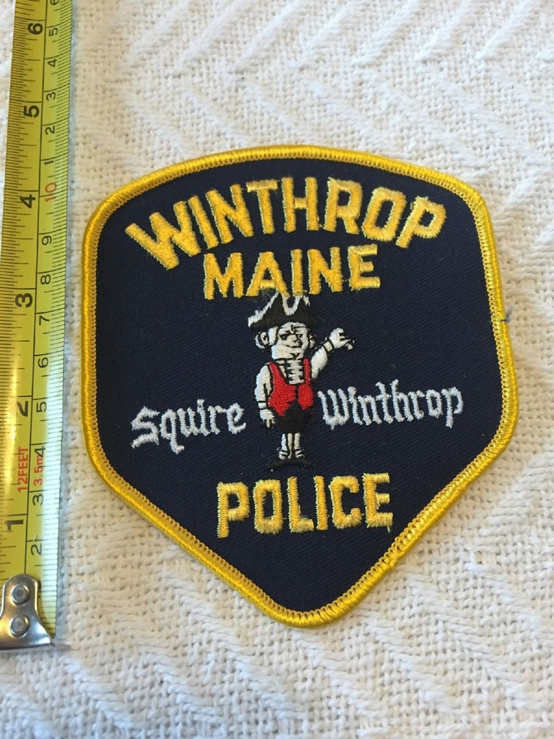 Squire Winthrop ME Maine Police Department Police Patch Large Official  Unused!!!