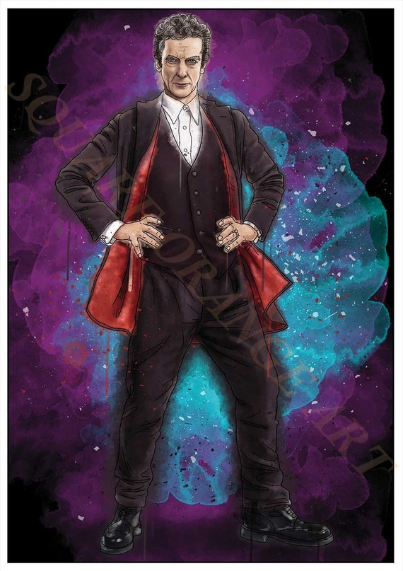 Twelfth Doctor Peter Capaldi 12th Dr Who Inspired Splash Style Etsy