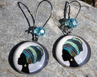 African earrings - girl earrings - fancy earrings - costume jewelry - women's jewelry
