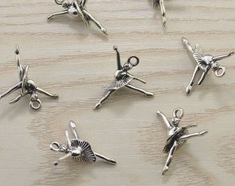 20pcs Dancer Charms,Ballerina Charms,Dancer Pendant Dance Accessories Dainty Minimalist Minimal Girlfriend Womens Gift For Her 25x24mm
