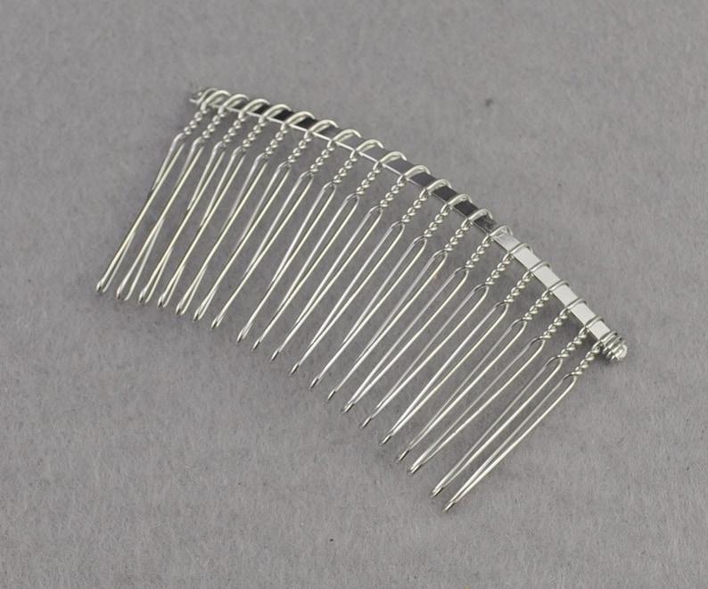 100pcs Handmade Hair Comb Clips Wig with 5-Teeth for Girl Dolls Hair Accs