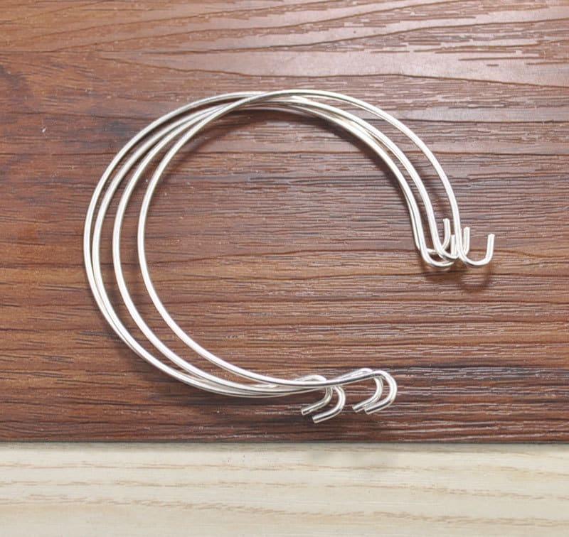 Breloque en en argent Bracelet Base, 100pcs en en laiton argenté Bracelet extensible réglable Bracelet jonc, bracelet de fil de laiton 68mm b963a8