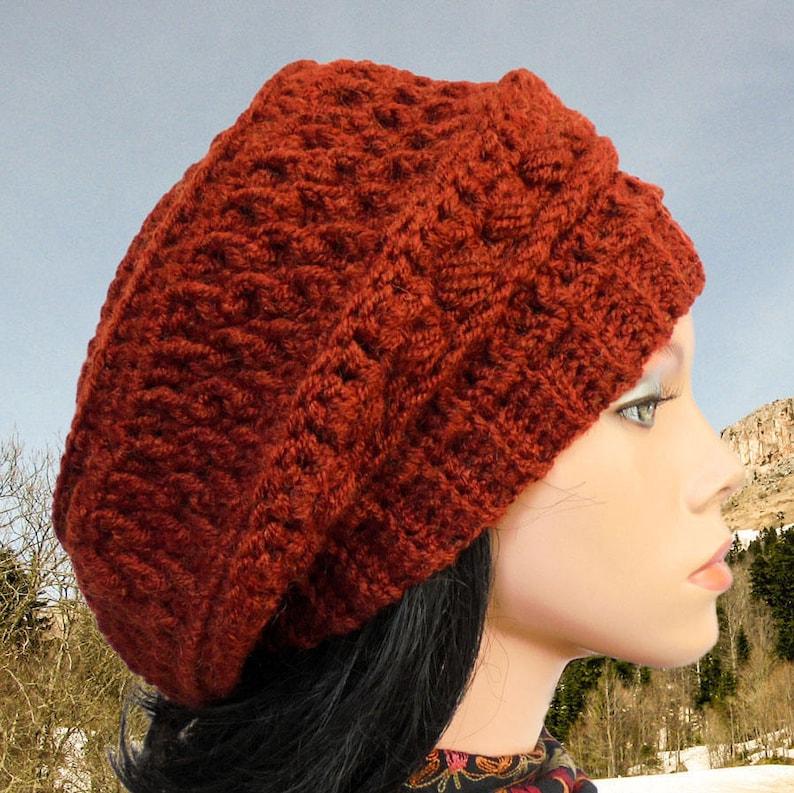 4cabb91a786 Slouchy beanie Crochet hat patterns Crochet beanie pattern