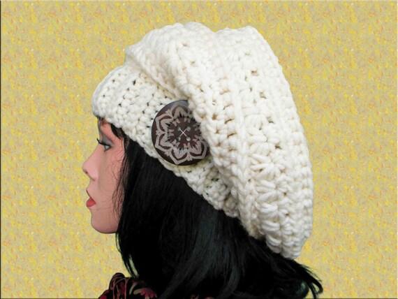 Winter Slouchy Hat Pattern Slouchy Beret Crochet Hat Pattern Etsy