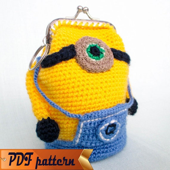 Amigurumi Crochet Pattern Purse Minion Crochet Purse Pattern Etsy