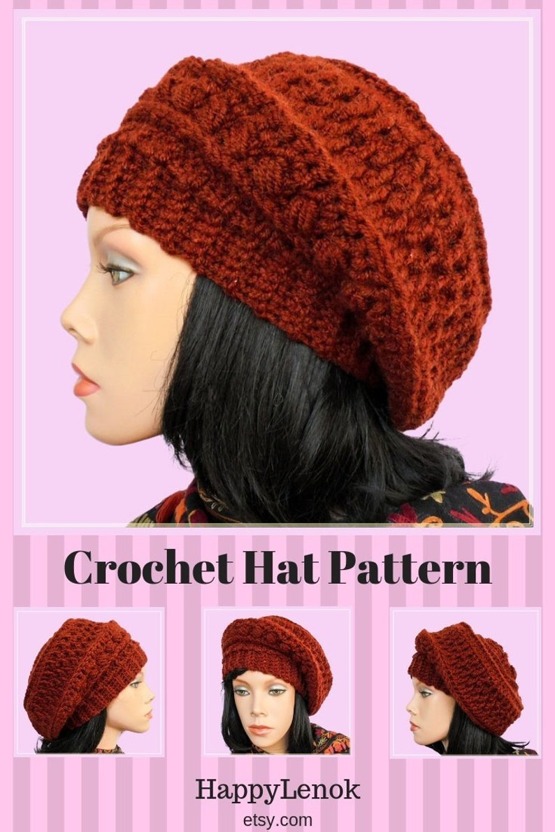 9a45774e579 Slouchy beanie Hat patterns DIY crochet hat Everyday slouchy