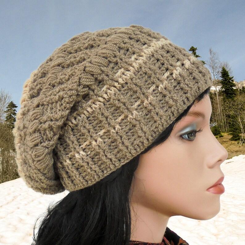 Crochet hat patterns Women slouchy hat Crochet beanie hat  0a33a1928