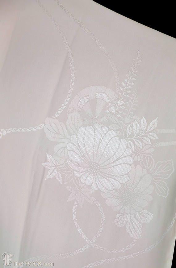 1930s Art Deco dressing gown, kimono robe, silk f… - image 2