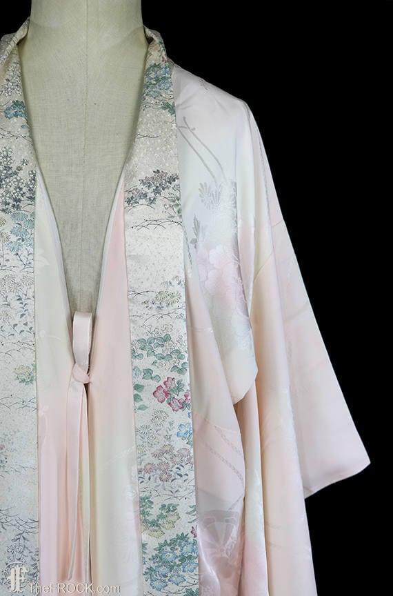 1930s Art Deco dressing gown, kimono robe, silk f… - image 3