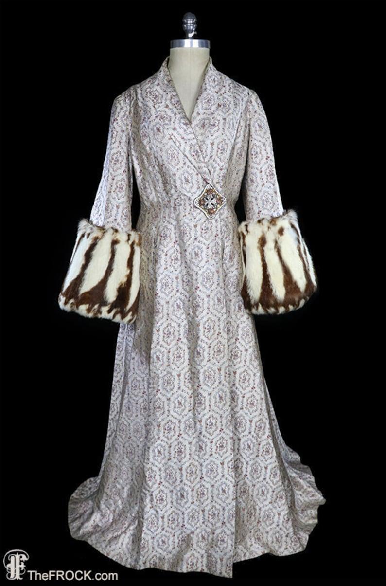 a4b6f619ed 1930s coat art deco robe dressing gown antique opera fur big