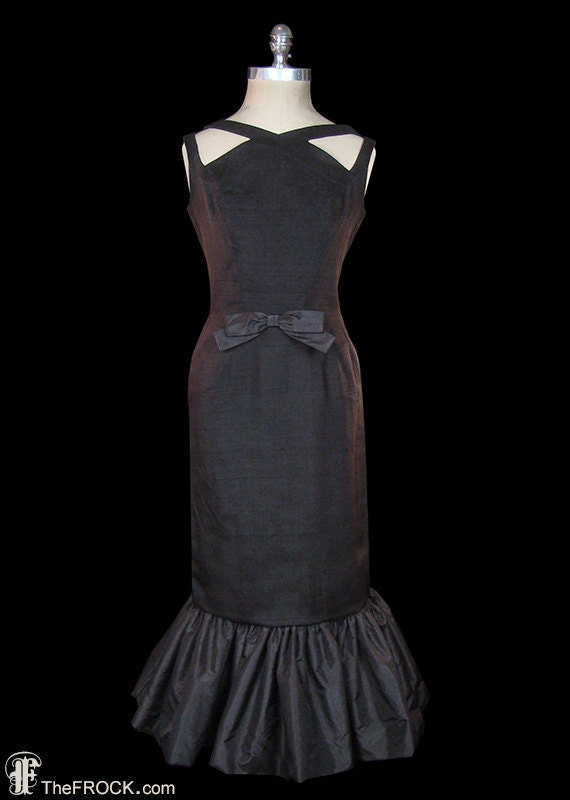 Luis Estévez little black linen & silk taffeta dre