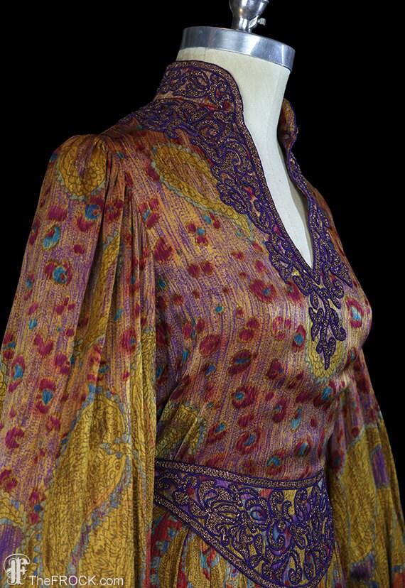 Oscar de la Renta maxi dress, bishop sleeves, boh… - image 4