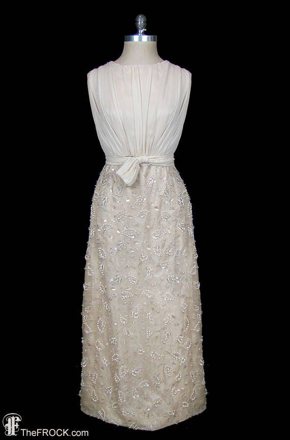 Oscar De La Renta Evening Gown Or Wedding Dress Dark Ivory Etsy