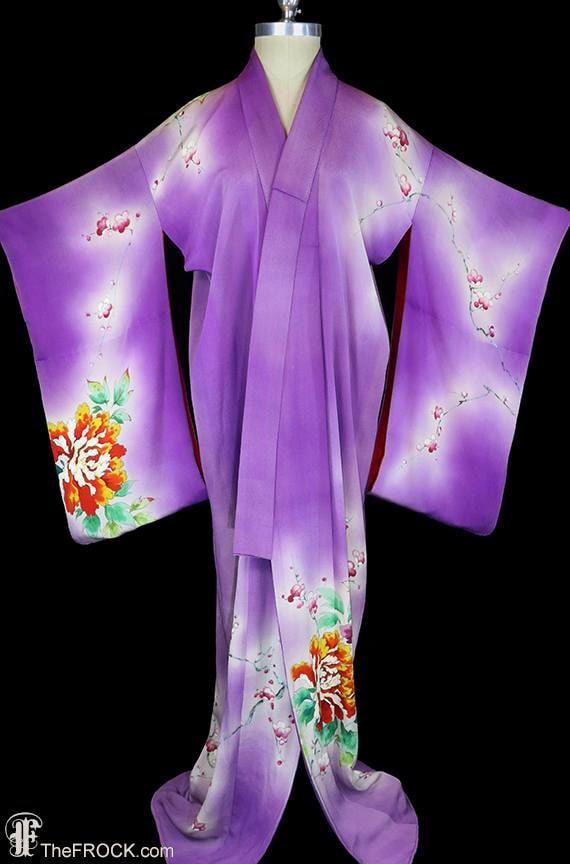 1930s silk kimono, robe or coat or dressing gown,