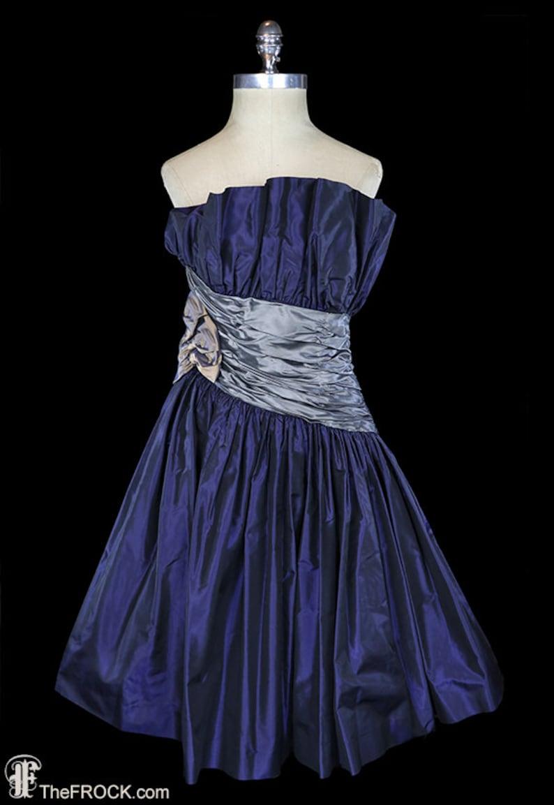6f23e59c Pierre Balmain dress silk taffeta vintage french couture | Etsy