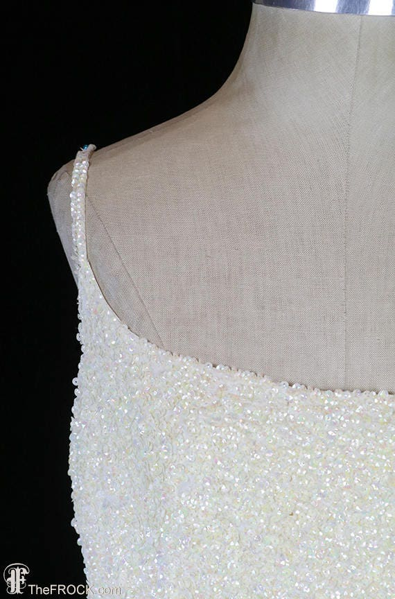 Ceil Chapman evening gown or wedding dress, sequi… - image 2