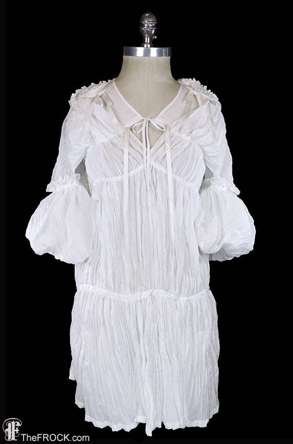 Junya Watanabe Comme Des Garcons Dress Avant Garde White Ivory Japanese Couture Day Or Evening Festival Origami Boho Bohemian