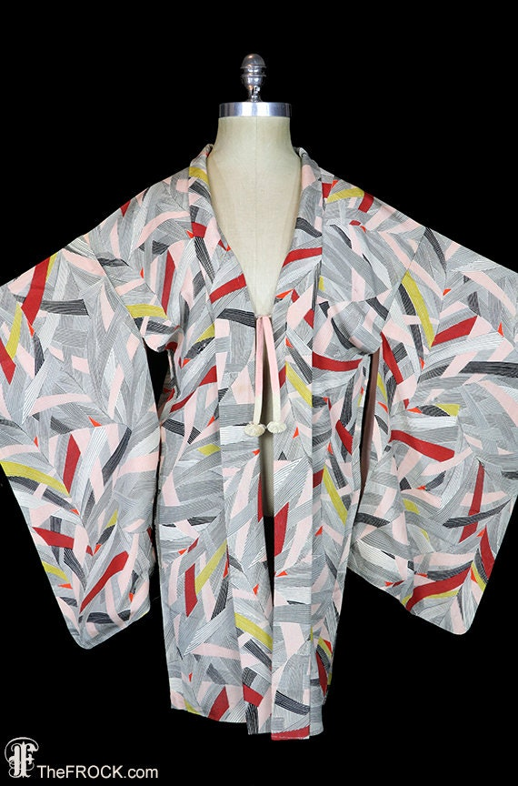 Antique silk kimono, robe or jacket or dressing go
