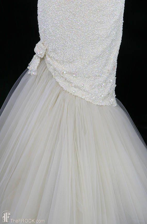 Ceil Chapman evening gown or wedding dress, sequi… - image 3