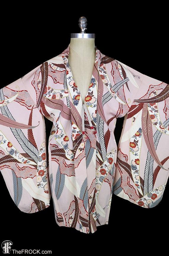 Antique silk kimono, robe or jacket or dressing go