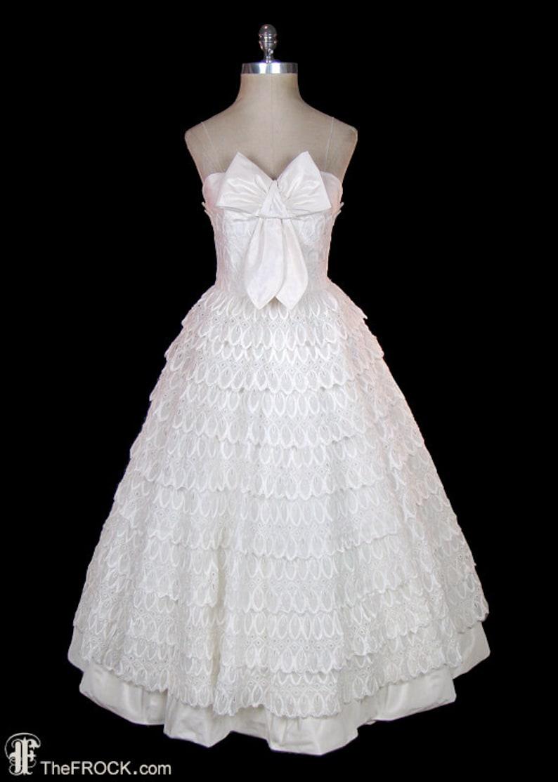 d489933f Pierre Balmain evening or wedding dress vintage silk taffeta | Etsy