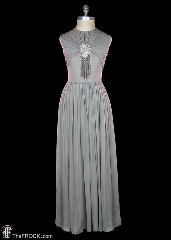 1930s gown Jean Harlow style post-flapper couture dress   Etsy