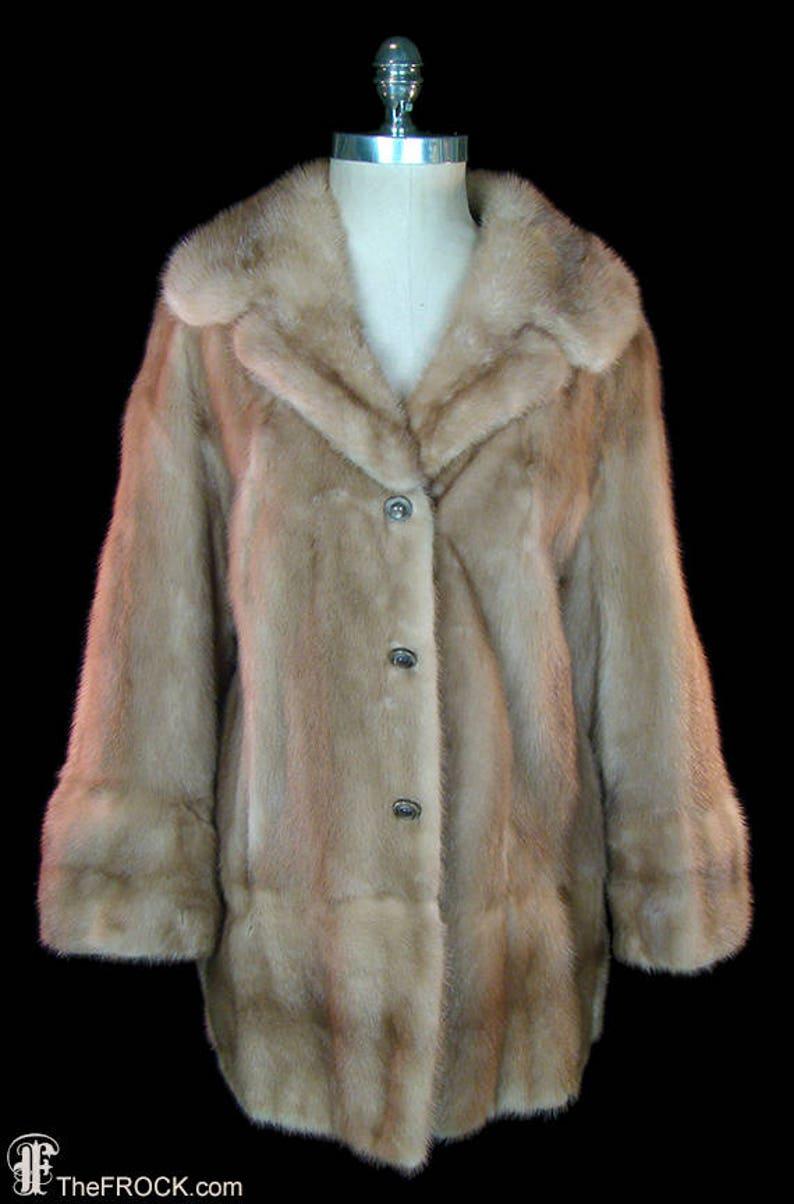 9e0f034c7 Bergdorf Goodman mink coat jacket autumn haze vintage 1950s image 0 ...