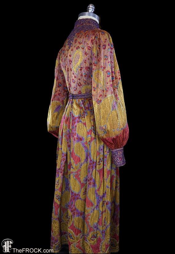 Oscar de la Renta maxi dress, bishop sleeves, boh… - image 5
