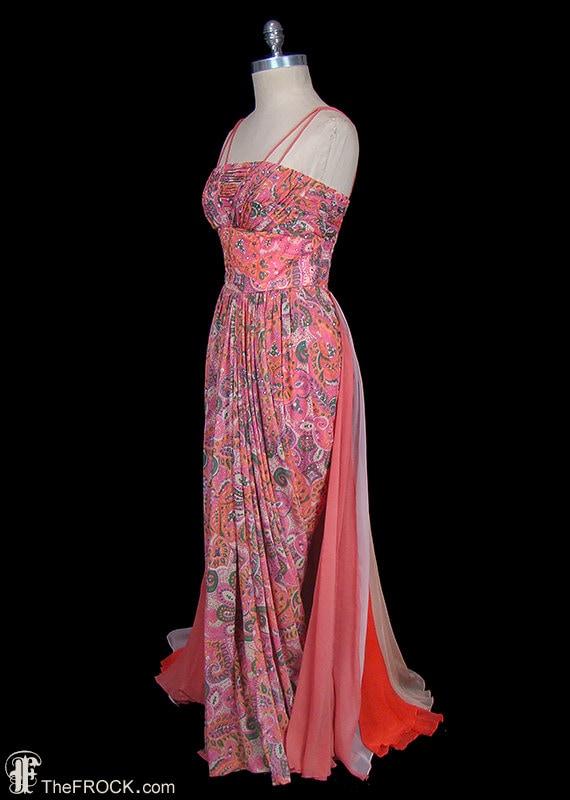 Ferdinando Sarmi colorful chiffon print goddess go