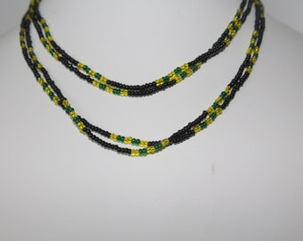 real beach feeling necklace not only for men Choker Jamaica with fish swirl beads