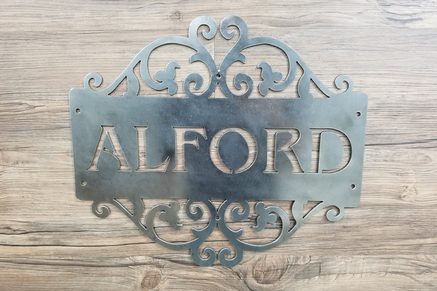 Family name plate home decor wall art metal art can be etsy - Brass name plate designs for home ...