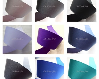 Double Faced Satin by Berisfords-Dark Royal-9 Widths-2 Meter and 5 Meter Lengths-Weddings,Cake Decorations,Crafts,Embellishments,Trimmings