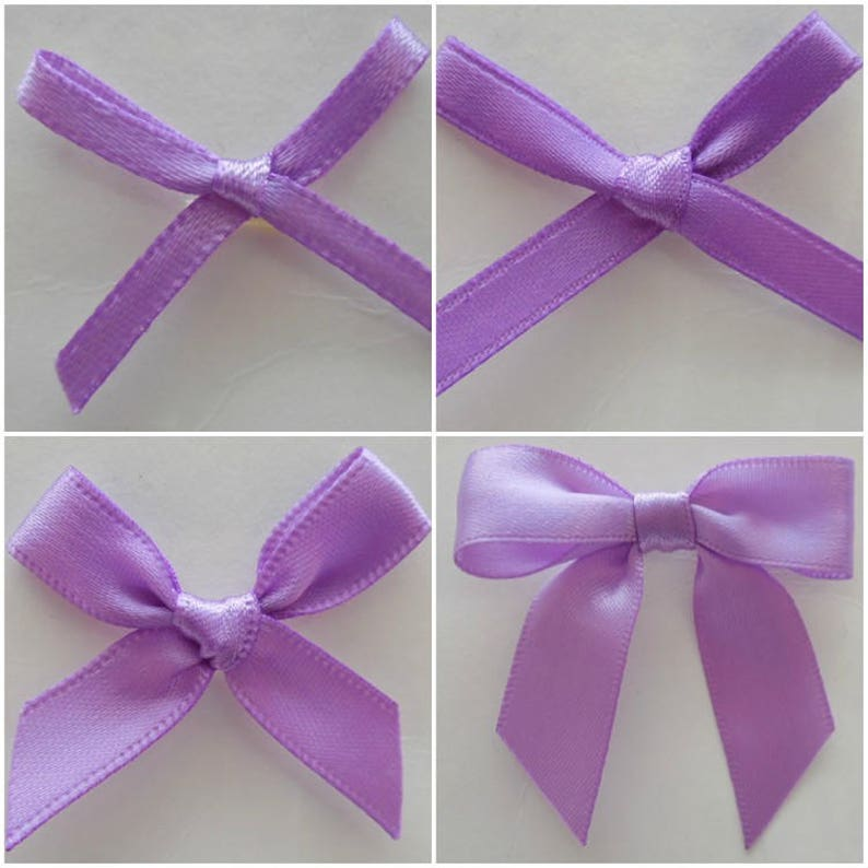 10 pk and 100 pk Satin Ribbon Bow 3 mm 10 mm and 15 mm Ribbon 7 mm Arts and Crafts /& Decorations and Celebrations Purple